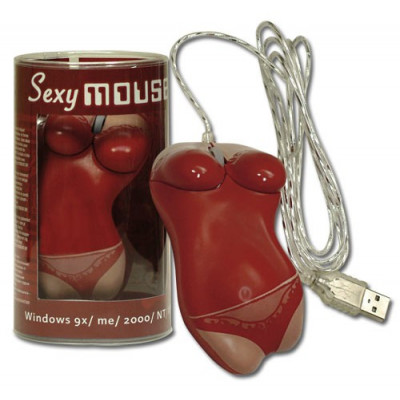 MOUSE USB SEXY ROSSO